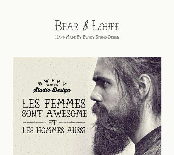 Шрифт-Bear-&-Loupe