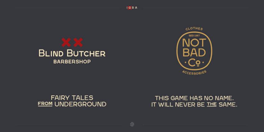 Шрифт Igra скачать бесплатно