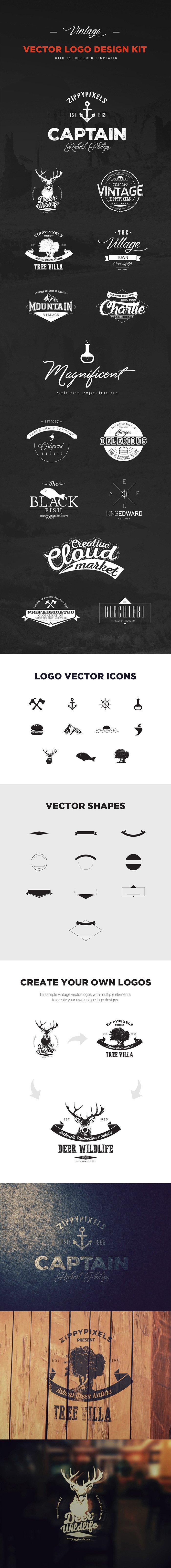 Vintage Logo Kit (.Ai) скачать бесплатно