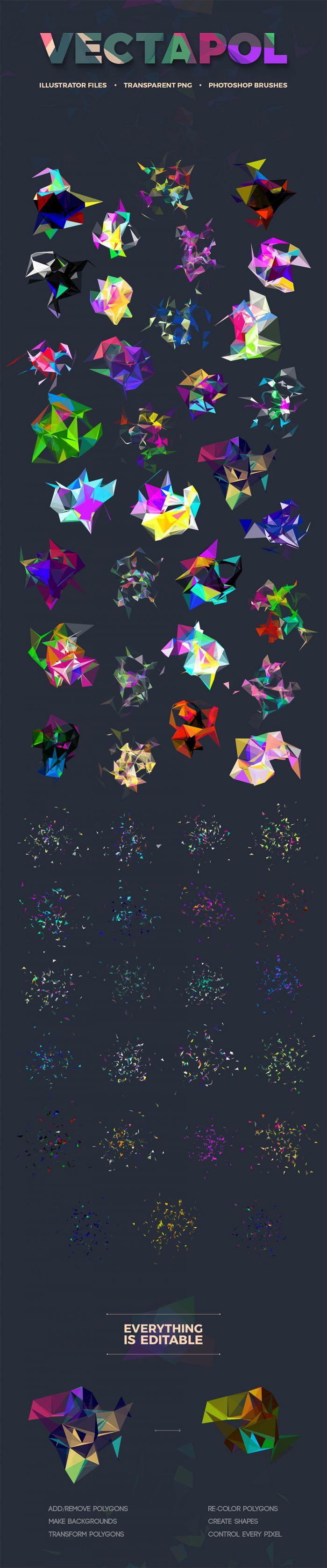 30 Free Vector Polygon (.Eps + .Png) скачать бесплатно
