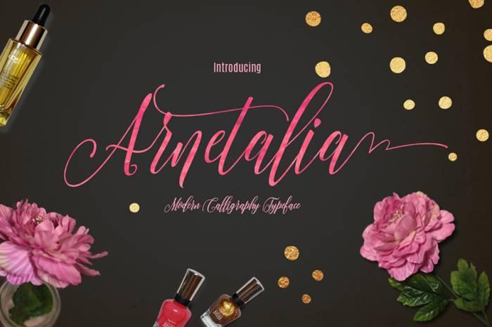 Шрифт Arnetalia скачать бесплатно