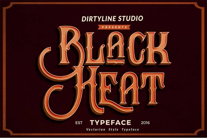 Шрифт Black Heat скачать бесплатно