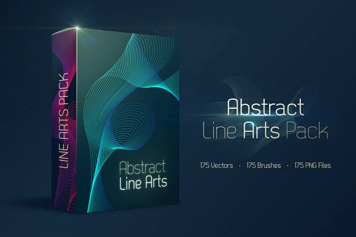 Free 175 Abstract Line Arts (.Ai + .Eps + .Png + .Abr) скачать бесплатно