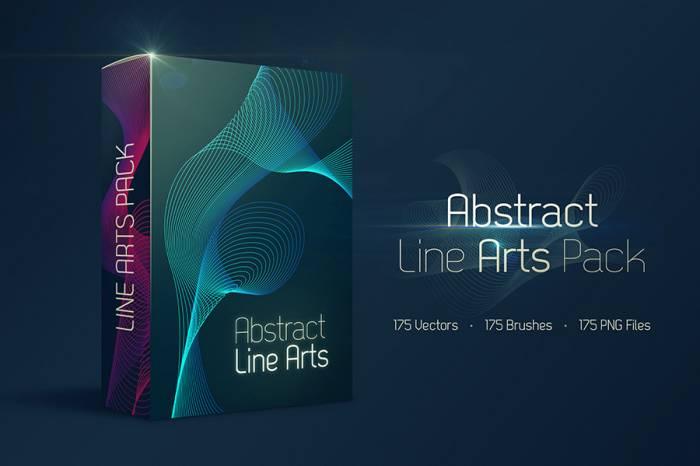 Free 175 Abstract Line Arts (.Ai + .Eps + .Png + .Abr) скачать бесплатно