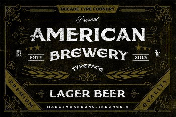 Шрифт American Brewery Rough скачать бесплатно
