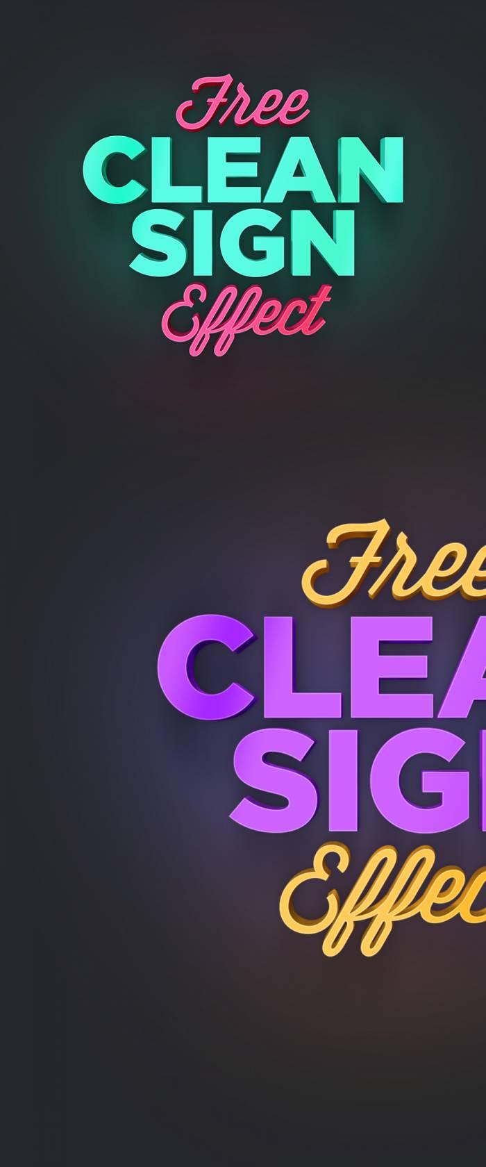 Clean Sign Text Effect (.Psd) скачать бесплатно