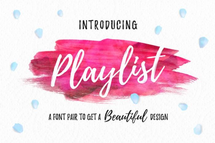 Шрифт Playlist скачать бесплатно