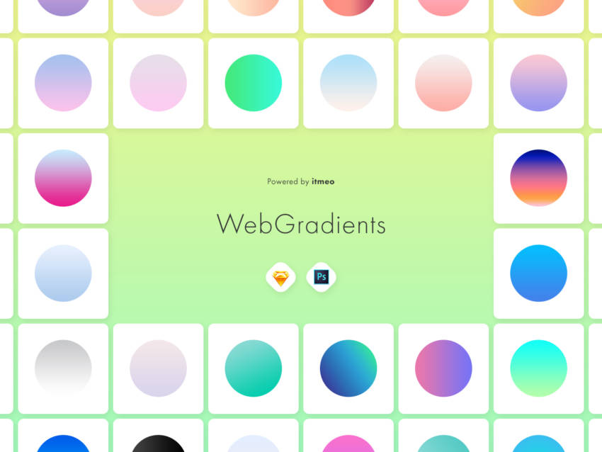 WebGradients - Ultimate Collection (.Psd + .Sketch) скачать бесплатно