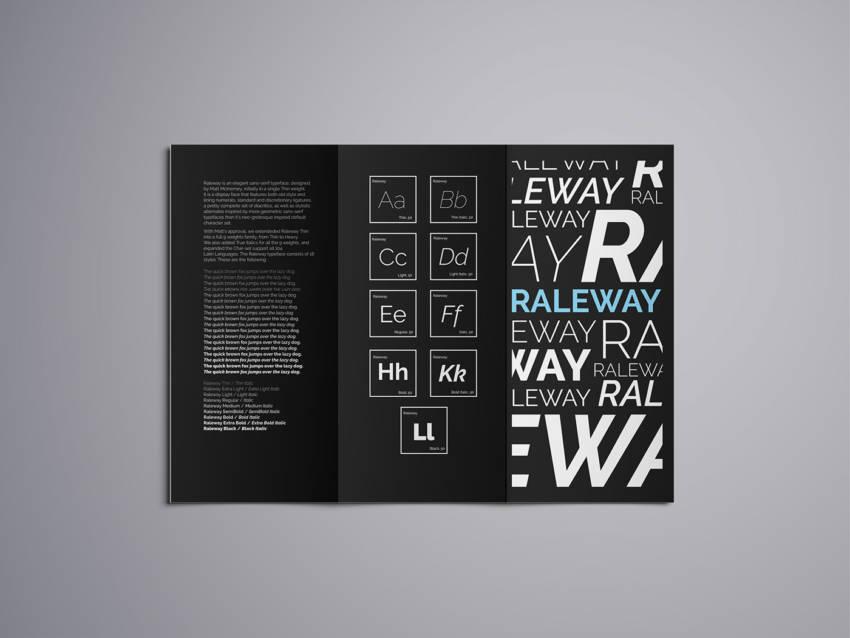 Шрифт Raleway скачать бесплатно