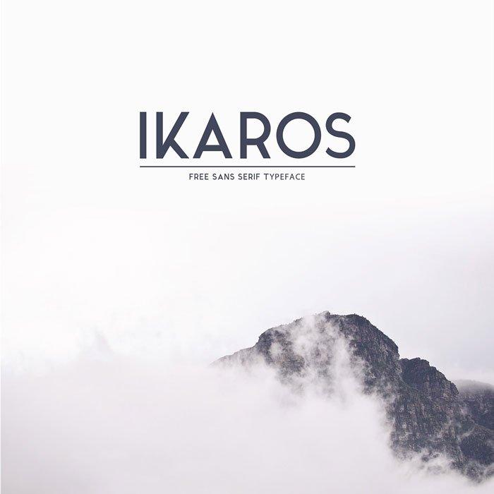 Шрифт Ikaros скачать бесплатно
