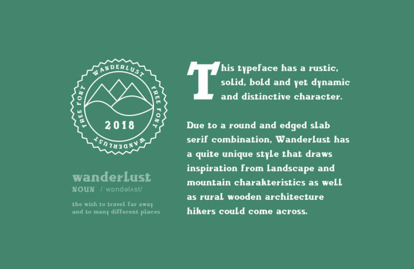 Шрифт Wanderlust скачать бесплатно
