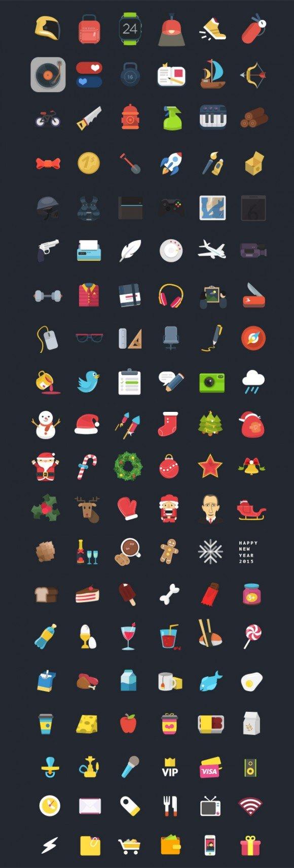120 иконок Colorful Ficons (.Psd) скачать бесплатно