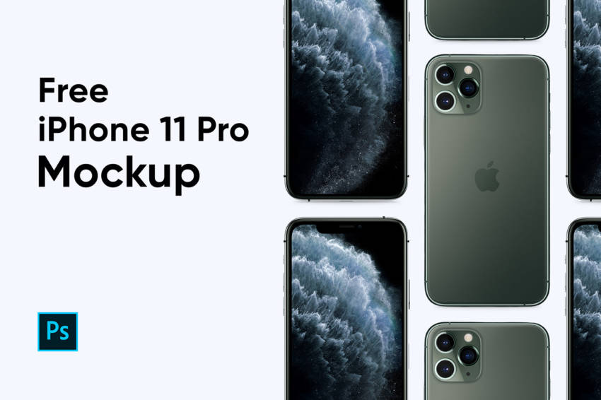 iPhone 11 Pro Mockup (.Psd) скачать бесплатно