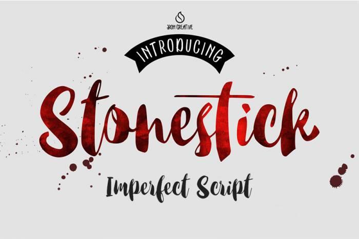 Шрифт Stonestick Imperfect Script скачать бесплатно