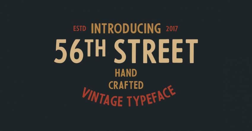 Шрифт 56th Street скачать бесплатно