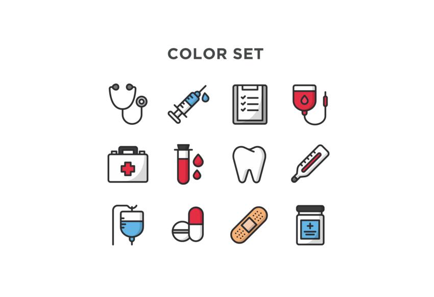 Free Medical Icon Pack (.Ai + .Sketch) скачать бесплатно