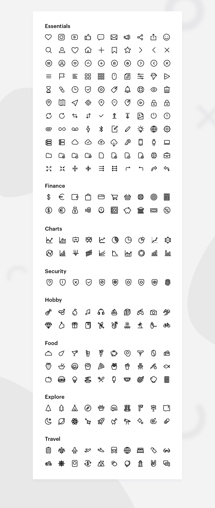 Essential Icons (.Psd + .Ai + .Png + .Sketch) скачать бесплатно