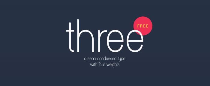 Шрифт Three скачать бесплатно