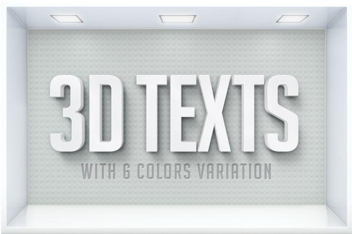 3D Text Effects (.Psd) скачать бесплатно