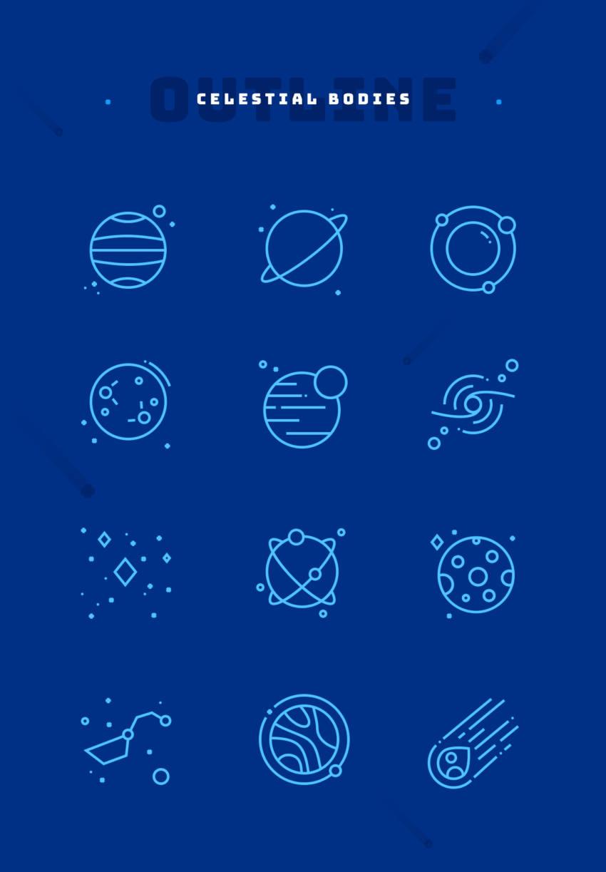 Space Iconography (.Ai + .Sketch + .Png) скачать бесплатно