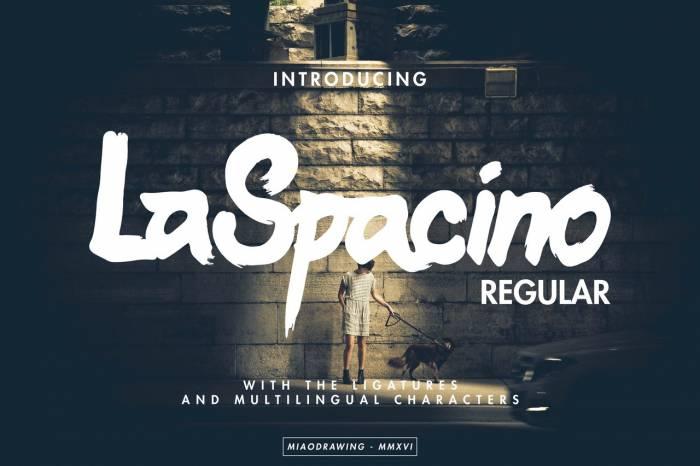 Шрифт LaSpacino скачать бесплатно