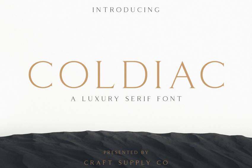 Шрифт Coldiac скачать бесплатно