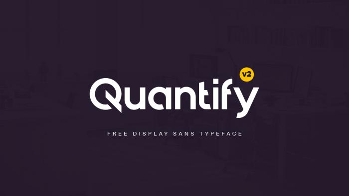 Шрифт Quantify скачать бесплатно