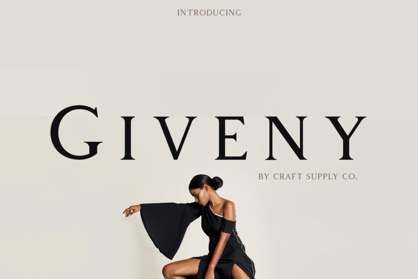 Шрифт Giveny скачать бесплатно