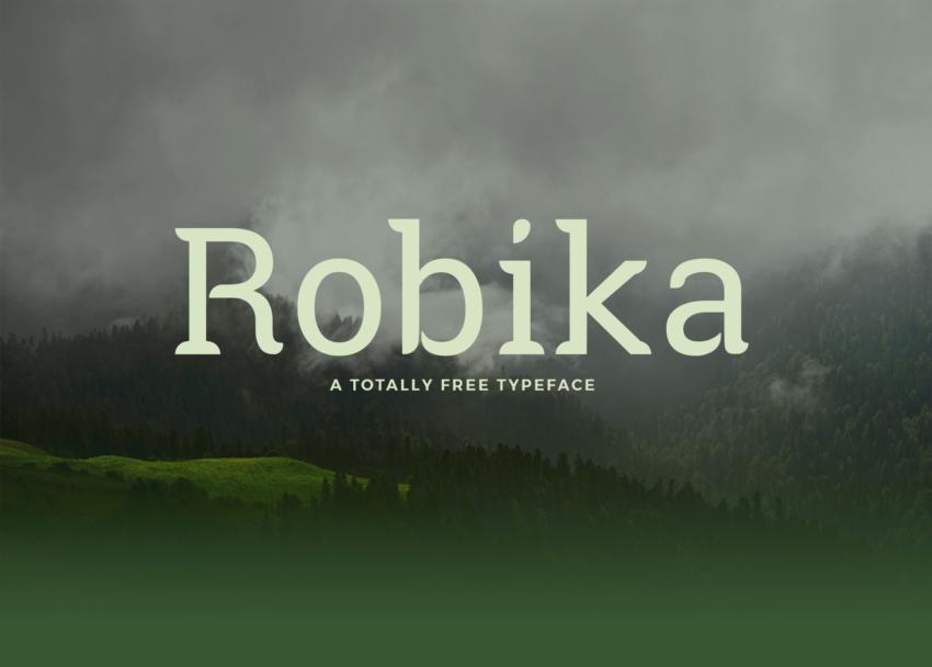 Шрифт Robika скачать бесплатно