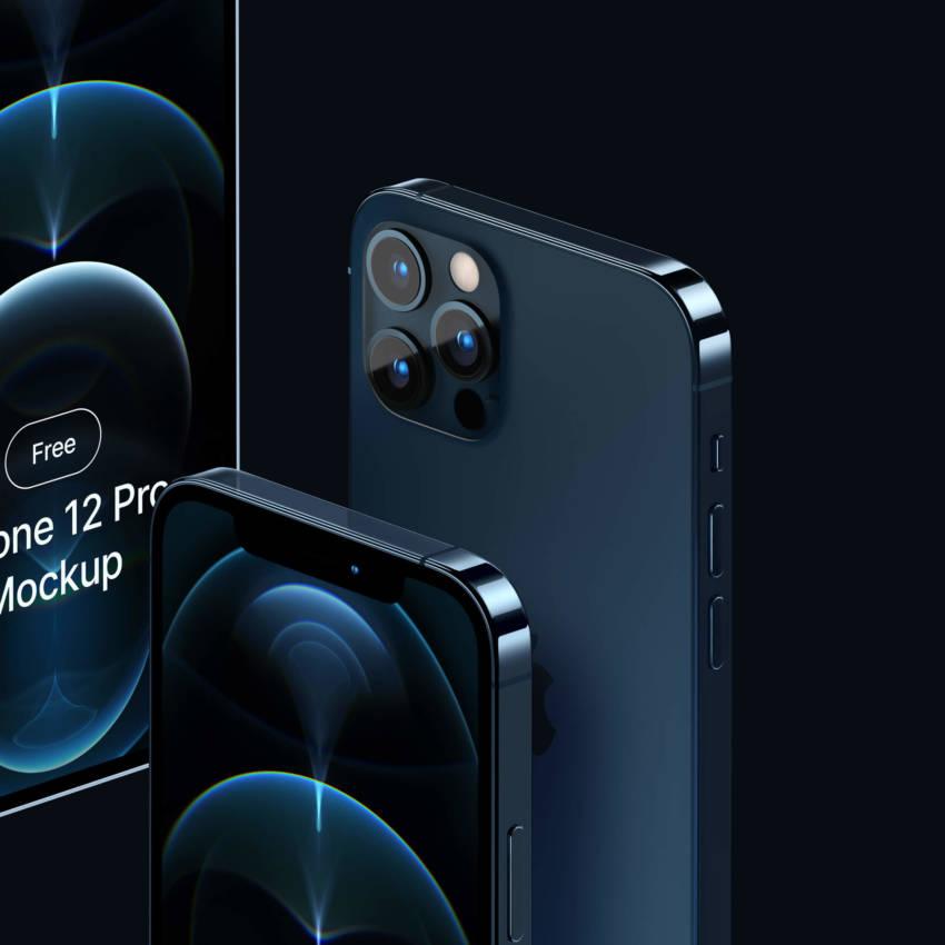 iPhone 12 Pro Mockup (.Psd, .Sketch, .Fig) скачать бесплатно