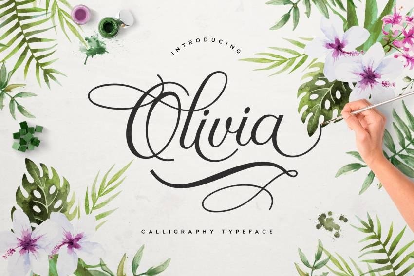 Шрифт Olivia Script скачать бесплатно