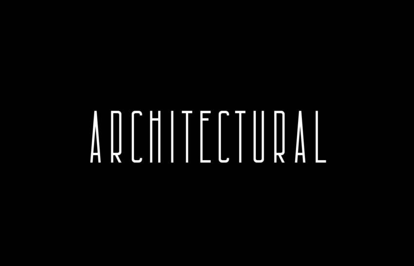 Шрифт Architectural скачать бесплатно