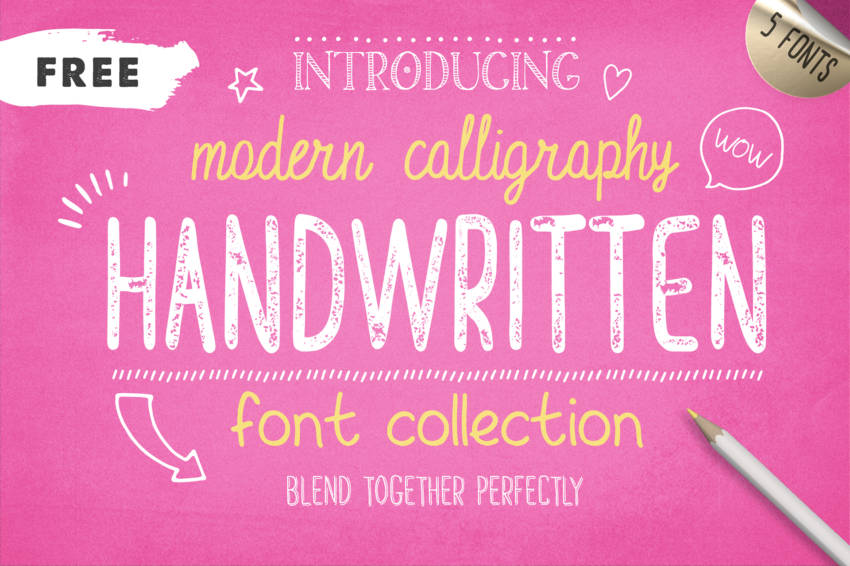 Handwritten Font Collection скачать бесплатно
