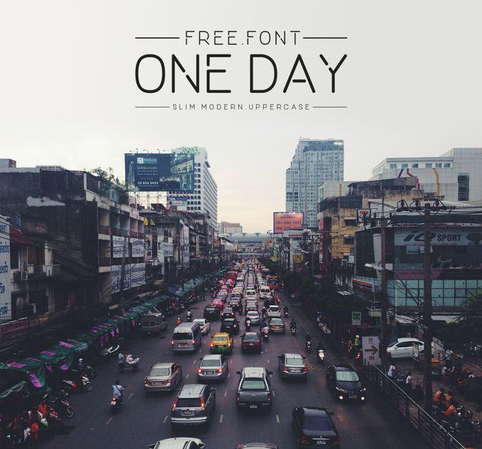 Шрифт One Day скачать бесплатно