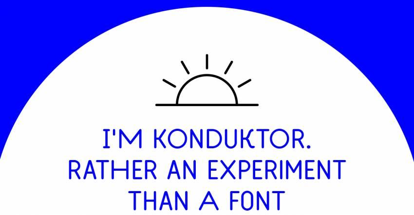 Шрифт Konduktor скачать бесплатно