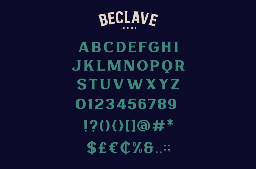 Шрифт Beclave скачать бесплатно