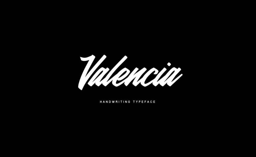 Шрифт Valencia скачать бесплатно