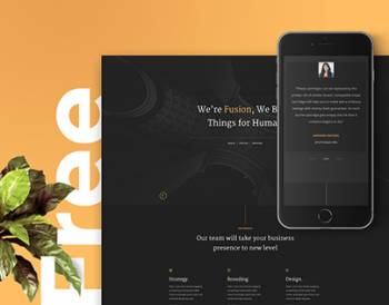 Fusion – Free Portfolio Template (HTML5/CSS3)