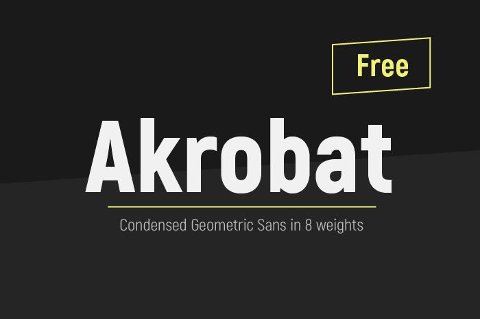 Шрифт Akrobat скачать бесплатно