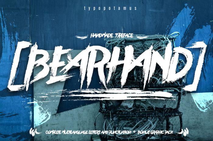 Шрифт BearHand скачать бесплатно