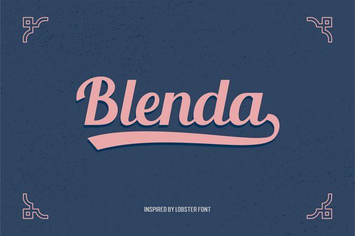 Шрифт Blenda Script скачать бесплатно