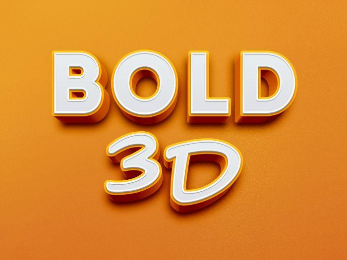 Bold 3D Text Effect (.Psd) скачать бесплатно
