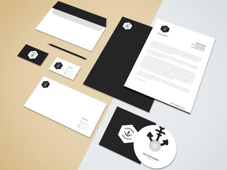Branding Stationery Mockup (.Psd) скачать бесплатно