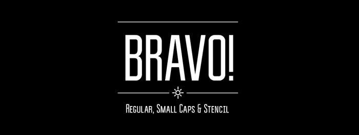 Шрифт Bravo скачать бесплатно