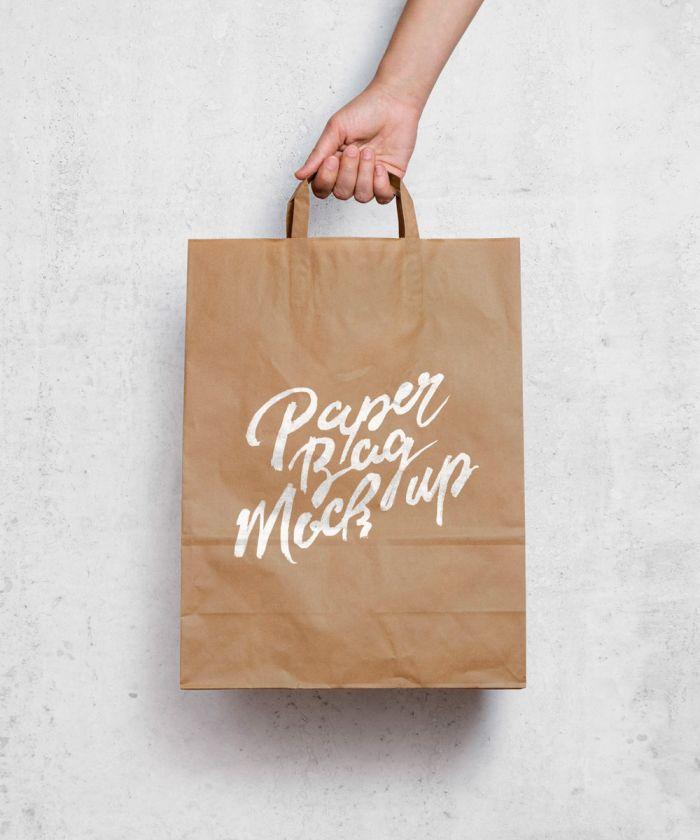 Бумажный пакет MockUp (.Psd) скачать бесплатно