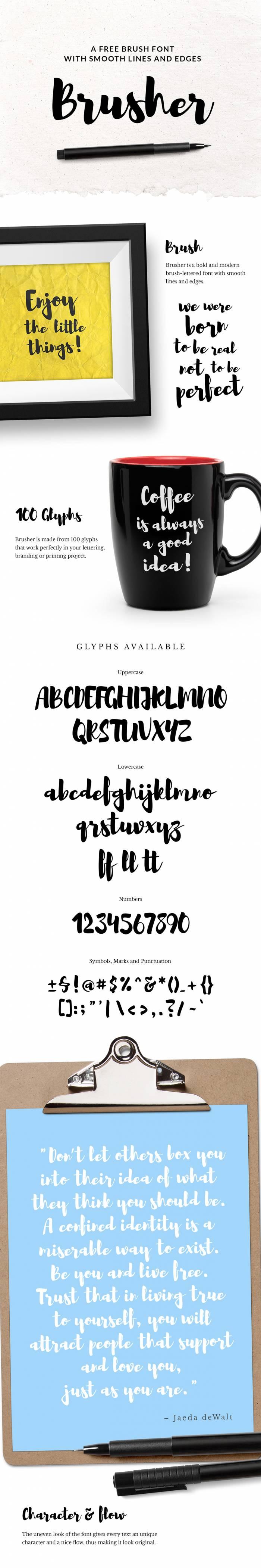Шрифт Brusher скачать бесплатно