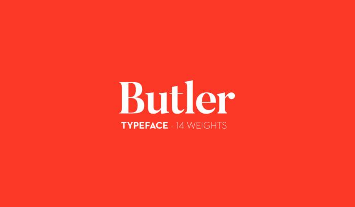 Шрифт Butler скачать бесплатно