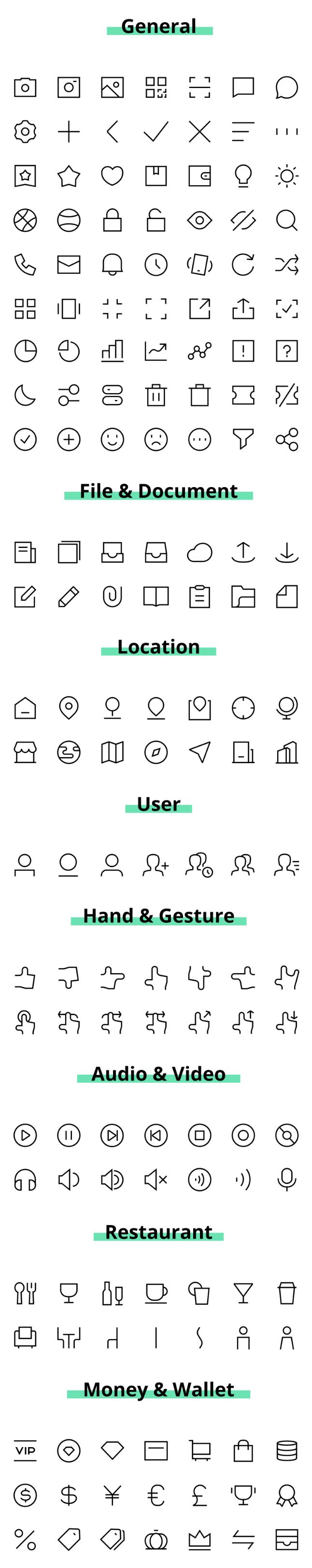 Cagoicon Vector UI Icons (.Ai + .Psd) скачать бесплатно