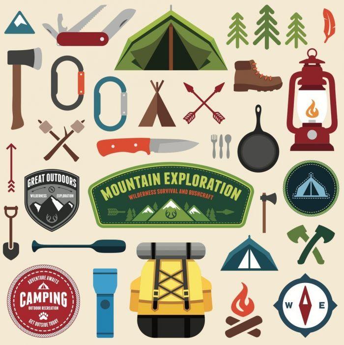 Camping Elements (.Eps) скачать бесплатно