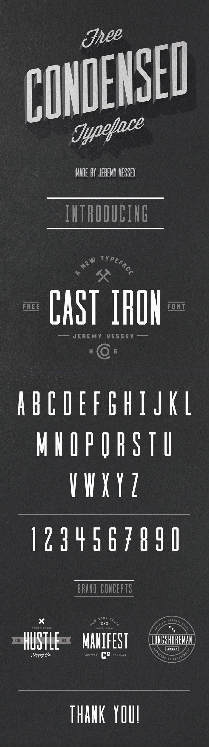 Шрифт Cast Iron скачать бесплатно